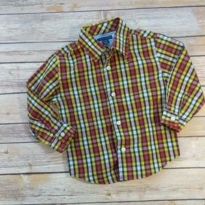 Tommy Hilfiger Plaid Button-Up Collared Shirt